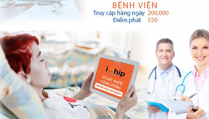 Wifi iChip hàng ngày có hàng trăm người sử dụng tại bệnh viện